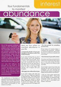 PAGE 1: FOUR FUNDAMENTALS TO MANIFEST ABUNDANCE